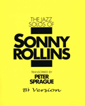 Sonny Rollins Solos Book Bb Version