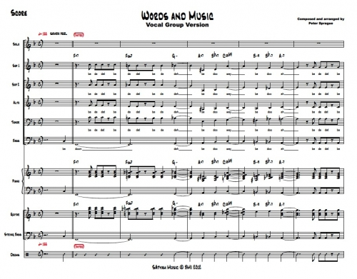 Words and Music Vox Arrangement sheet music (score and parts)