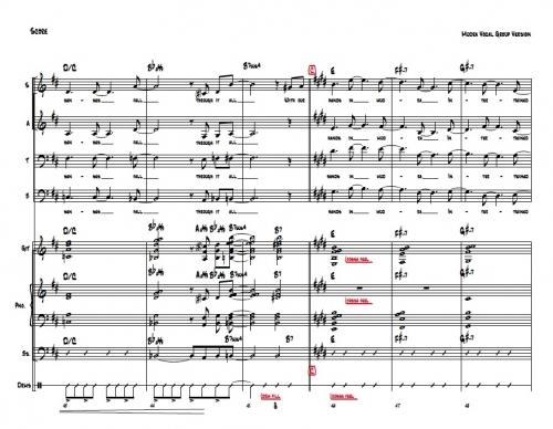 Mudra Vox Arrangement sheet music (score and parts)